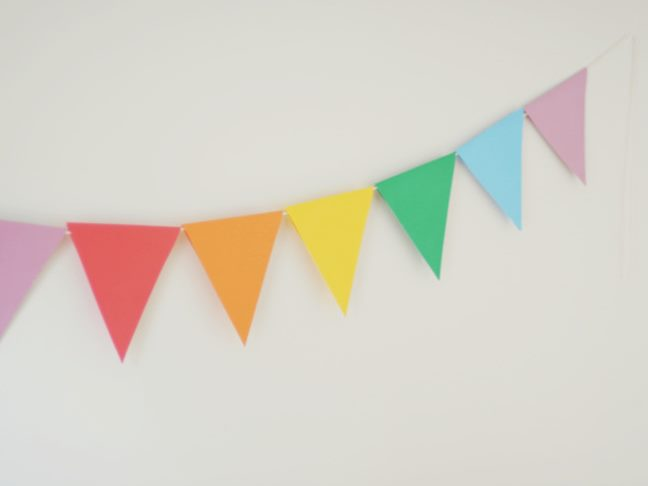 Need Some Quick Festive Decor For Your Party Try This Paper Banner Thats So Easy To DIY That Even The Kids Can Help If Youre Not Entertaining