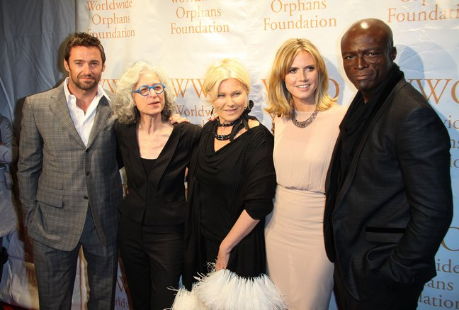 Seal, Hugh Jackman, Heidi Klum, Deborra-Lee Furness
