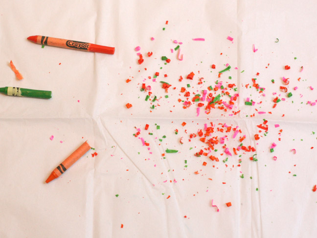 DIY Holiday: Crayon Chip Wrapping Paper