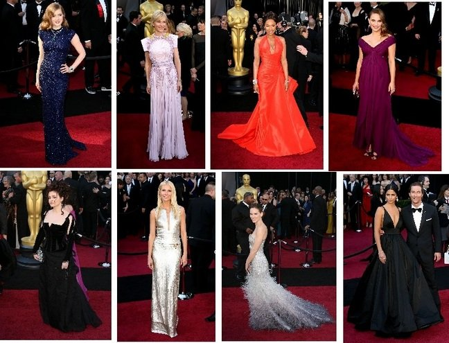 Oscar Dresses, Jennifer Hudson, Natalie Portman, Camila Alves, Amy Adams, Gwyneth Paltrow