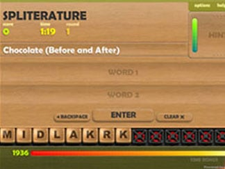 spliterature word game