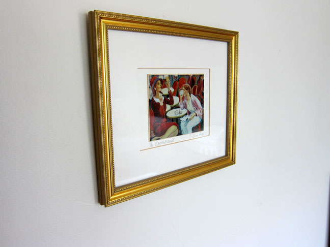 gold picture frame art