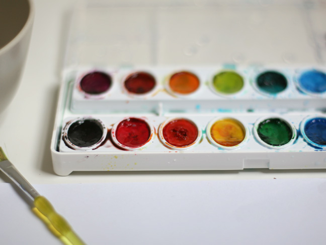 Watercolor Gift Tags - Step 1