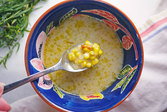 Quick Easy Summer Corn Chowder Soup