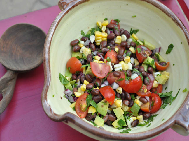 Black Bean and Avocado Salad Labour Day Recipes
