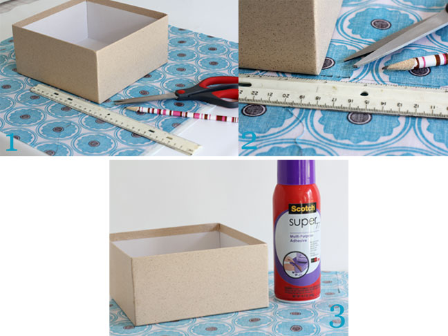 DIY Decor: Fabric Covered Storage Boxes - Supplies