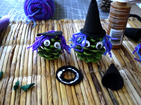 Pinecone Witch Kid Craft - Step 11