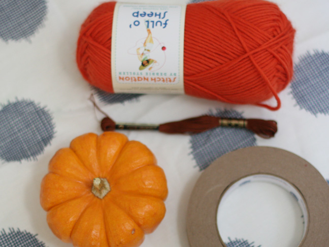 Thanksgiving Yarn Pumpkins DIY Craft - Supplies