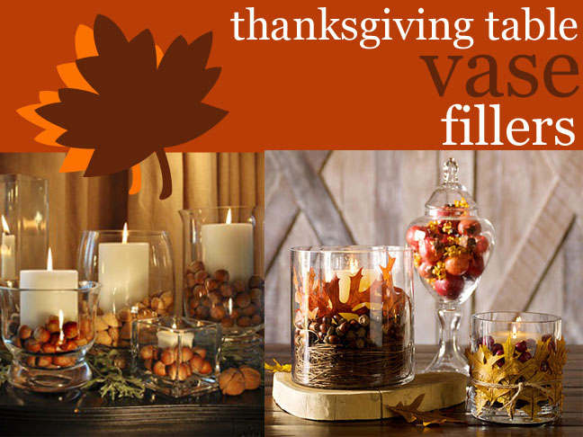 Thanksgiving Table Decor - Vase Fillers