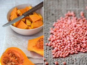 Roasted Squash and Red Lentil Soup Ingredients