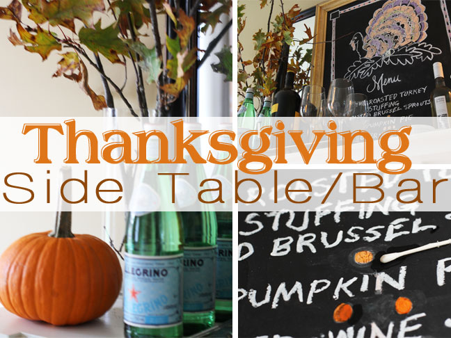 Thanksgiving Side Table DIY