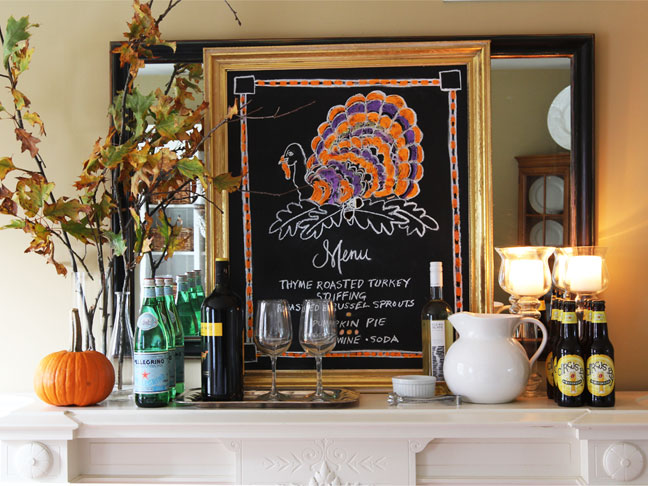 Thanksgiving Menu Chalkboard DIY