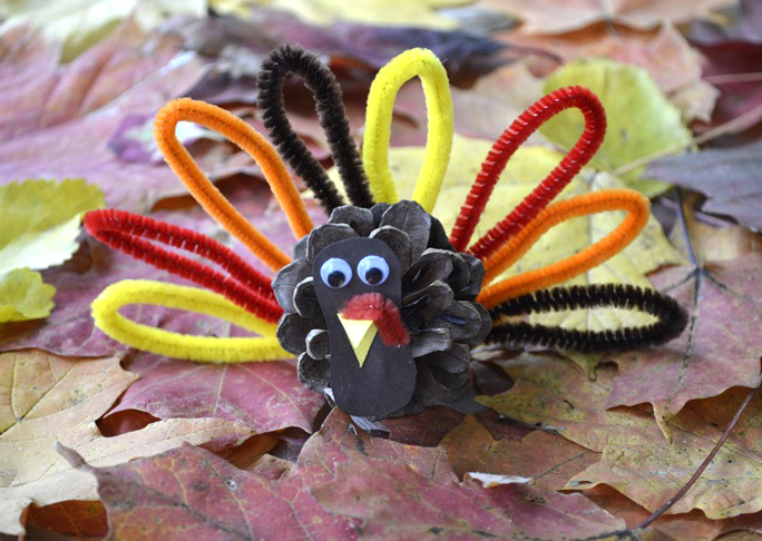 Pincone Turkey DIY Craft