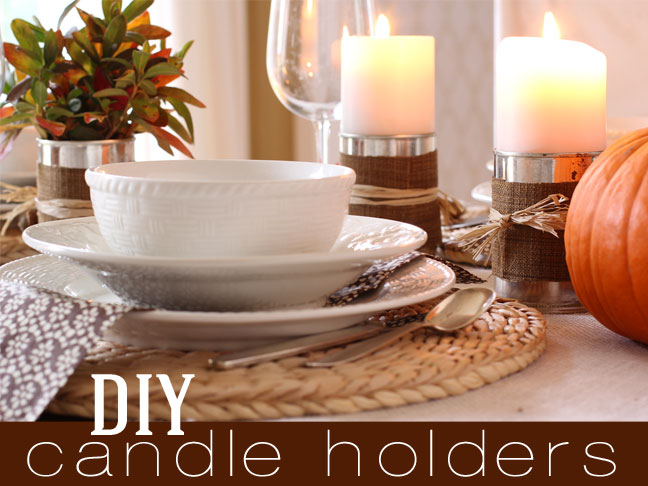 Thanksgiving Candle Holders DIY