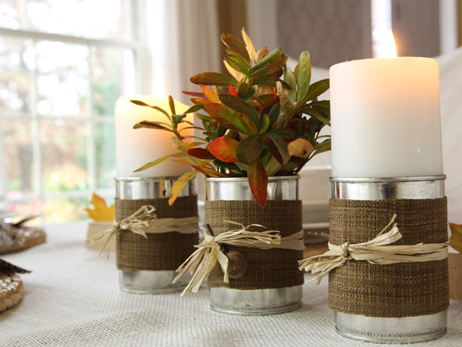 DIY Candle Vases