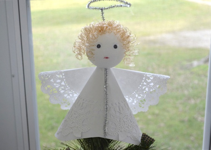 Angel Christmas Tree Topper Craft