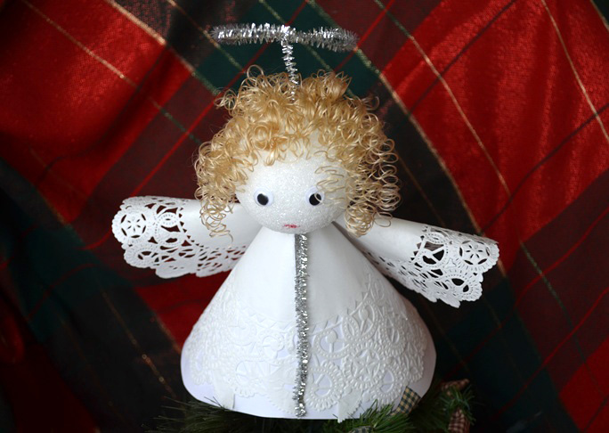 Angel Christmas Tree Topper Craft - Step 12