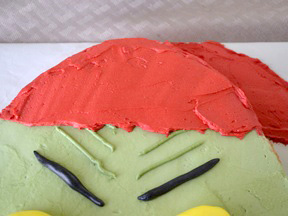 Grinch Cake Recipe - Step 21