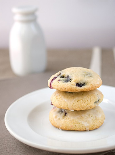 Christmas Cookies - Blueberry Buttermilk Cookies