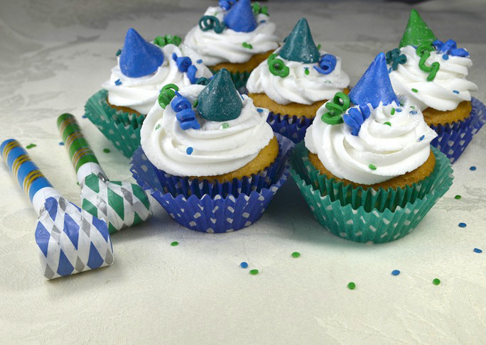 New Year's Eve Party Cupcakes