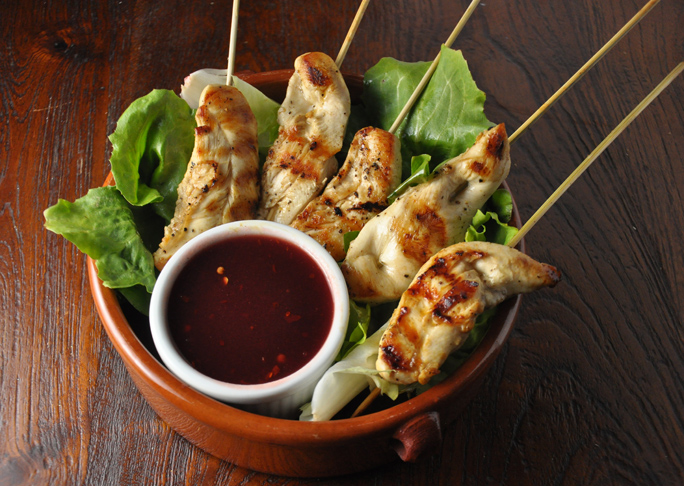 Chicken Skewers and Spicy Cranberry Sauce Recipe