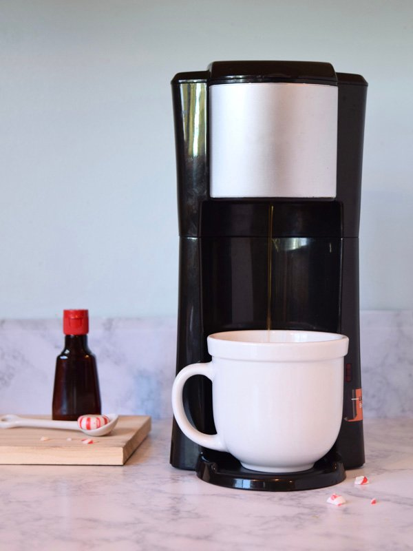 peppermint latte coffee mug brewer