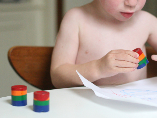 DIY Rainbow Crayons