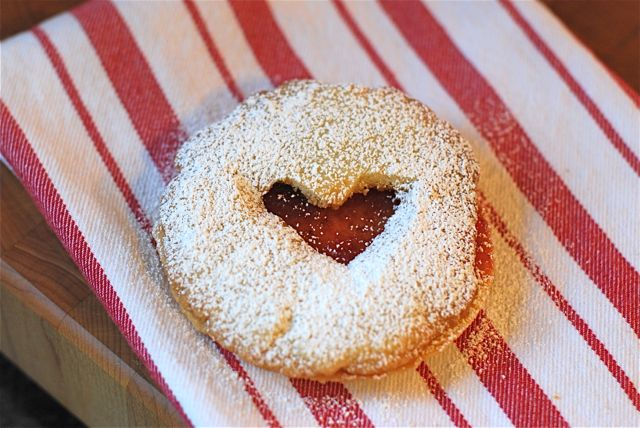 Heart-Shaped Linzer Cookies