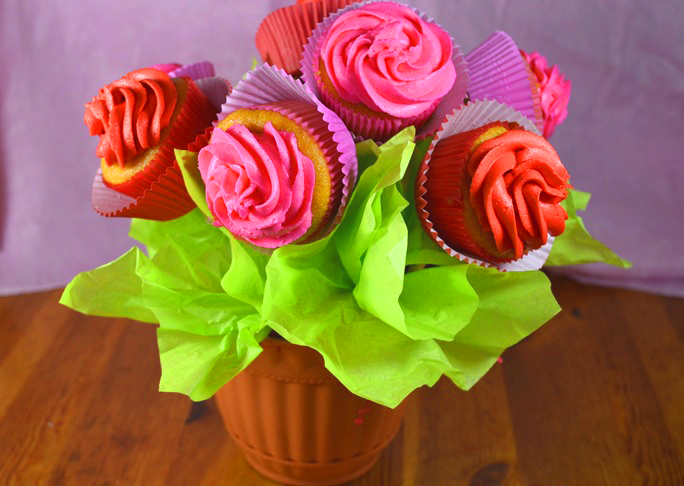 Cupcake rose Bouquet Recipe