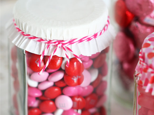 DIY Candy Jars for Valentine's Day