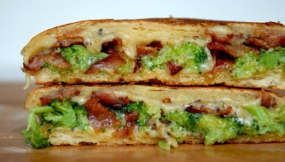 Broccoli Mustard Cheddar Grilled Cheese