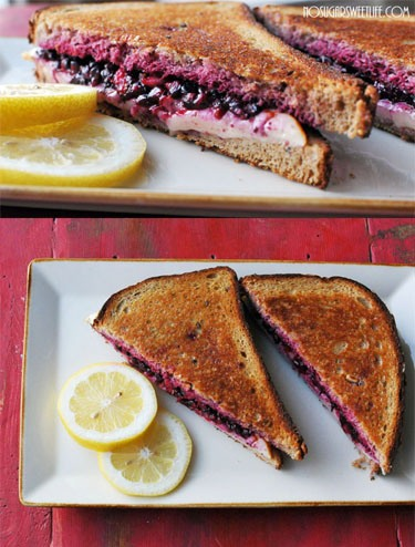 Lemon Blackberry Grilled Cheese