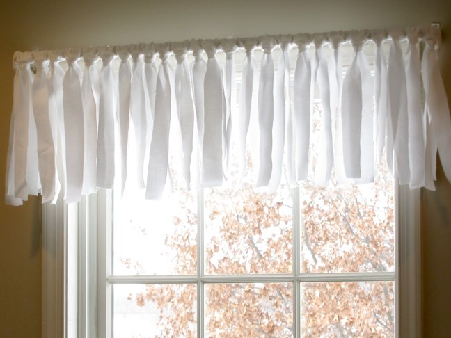 Diy Easy No Sew Window Valance Pottery Barn Inspired
