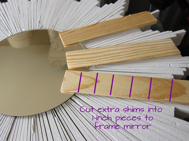 cutting shims for starburst mirror