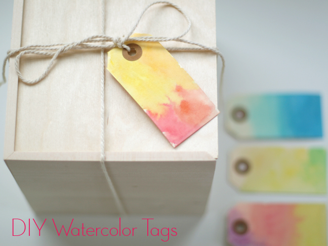 Wwater color Gift Tags DIY