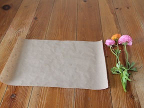 Flower Wrapping Paper DIY - Step 4