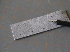 Leather Bookmark Craft - Step 2
