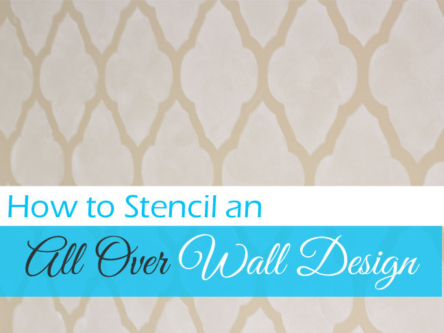 Paint Wall with Stencil