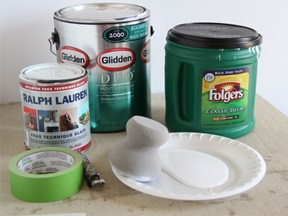 Materials to Paint Stencil on Wall
