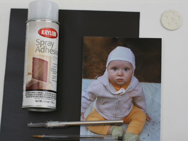 photo spray glue black stock