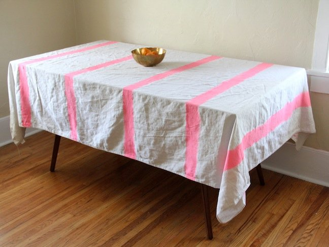 DIY Striped Tablecloth