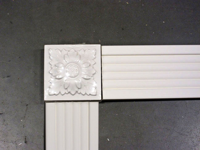 decorative white molding