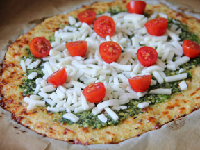 Cauliflower Crust Gluten-Free Pizza - Step 10B