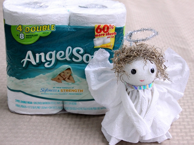 DIY Toilet Paper Angel
