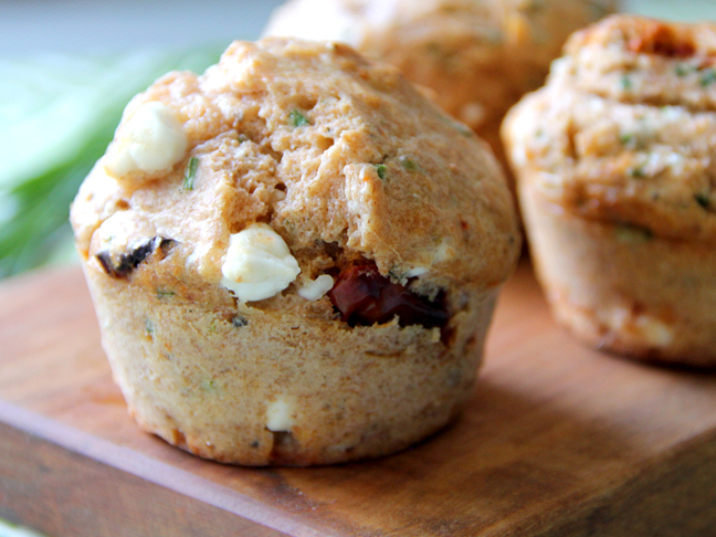 Oven Dried Tomato-Feta Muffins Recipe Final
