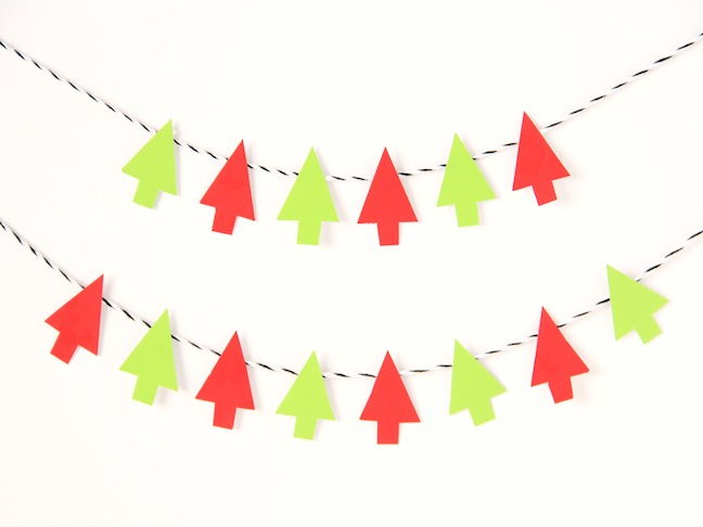 christmas tree garland diy tutorial