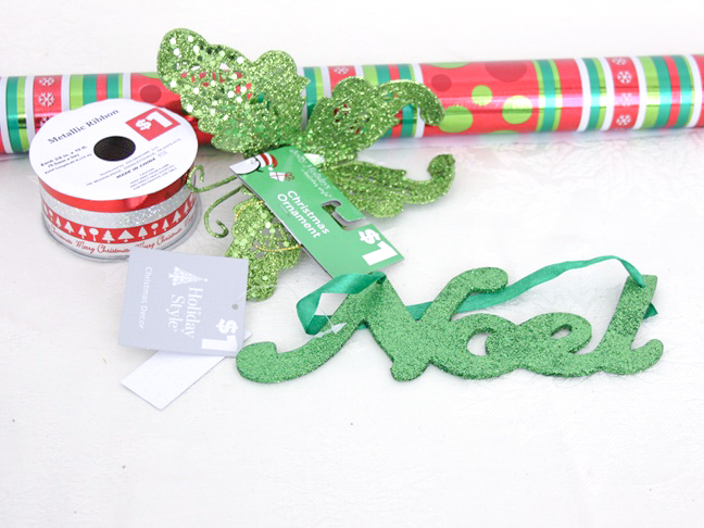 dollar_store_butterfly_noel_gift_wrap_materials