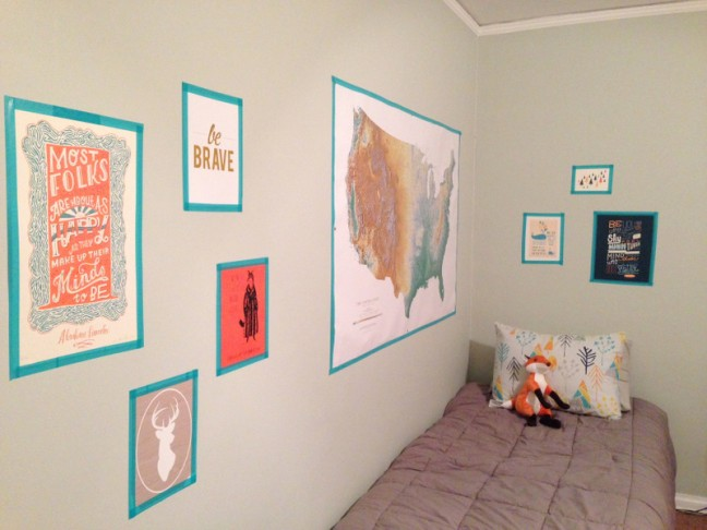 Washi Tape Gallery Wall DIY