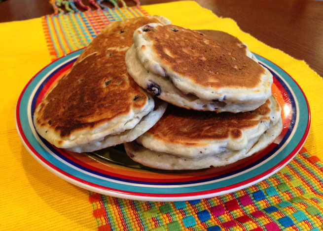 Bluberry Quinoa Pancakes for Baby