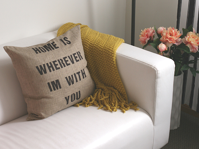DIY quote pillow
